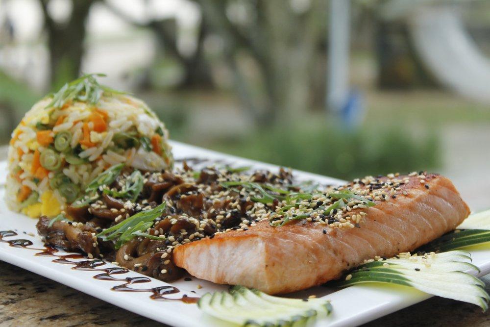 salmon shitake