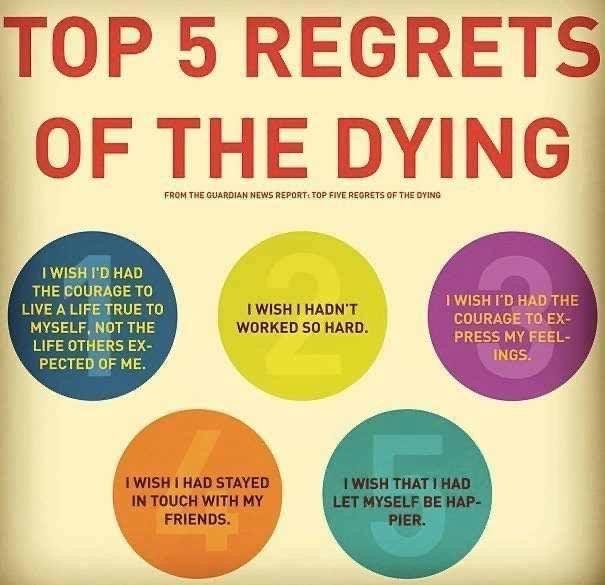 Top 5 Deathbed Regrets